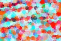 orange blue and green circle pattern abstract by timla