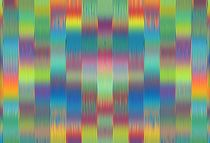 green blue pink red and yellow painting lines pattern by timla