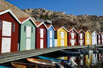 Fischerhütten in Smögen, Schweden von Heiko Esch