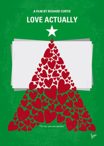 No701 My Love Actually minimal movie poster von chungkong