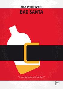 No702 My Bad Santa minimal movie poster von chungkong