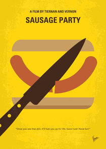 No704 My Sausage Party minimal movie poster von chungkong