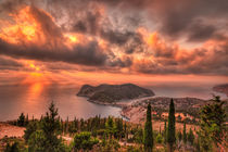 Sunset at Assos in Kefalonia, Greece by Constantinos Iliopoulos