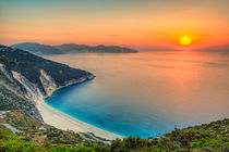 Sunset at Myrtos in Kefalonia, Greece by Constantinos Iliopoulos