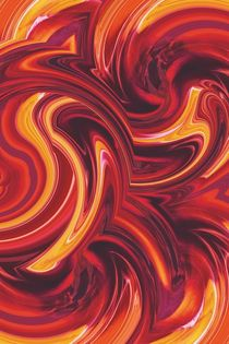 yellow red and brown spiral painting abstract background von timla