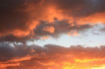herbstlicher Sonnenaufgang von Martina Lender-Frase