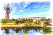 West Ham Olympic Stadium And The Arcelormittal Orbit Art by David Pyatt