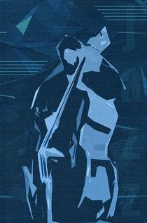 Jazz Contrabass Poster by cinema4design