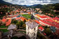 Kremnica St. Catherine church view on square, Slovakia von Zoltan Duray