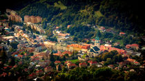 Beautiful view of ancient Kremnica from the observation tower by Zoltan Duray