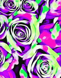 pink purple and green roses texture  von timla