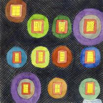 Lighted Windows in the Dark by Heidi  Capitaine