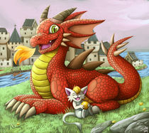 dragon and catfriend von sushy