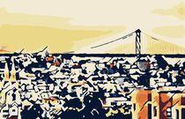 buildings and the bridge at San Francisco, USA von timla