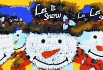 drawing and painting snowman dolls with hat background by timla