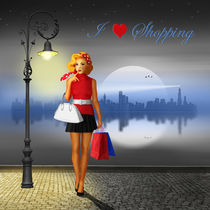 Pin up girl liebt shoppen von Monika Juengling