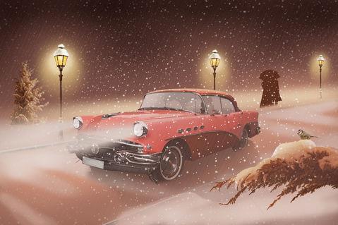 Auto-im-schnee