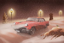 US Classic Car im Winter by Monika Juengling