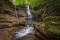 Pwll y Wrach waterfalls  von Leighton Collins