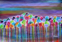 Enchanted Forest abstract by Manjiri Kanvinde