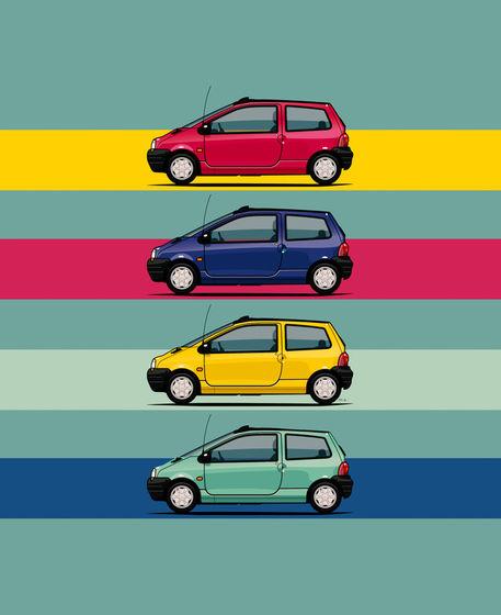 Illu-renault-twingo-quartet-poster