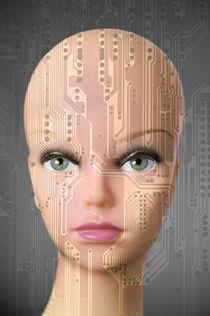 Female robot by Csaba Deli