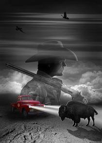 Das Treffen mit Sheriff und Bison by Monika Juengling