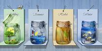 Die Jahreszeiten in 4 EinmachGläsern von Monika Juengling