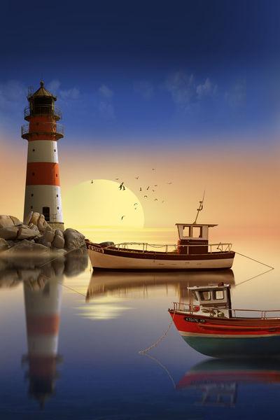 Morgens-leuchtturm-hafen-75-50