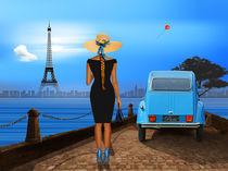 Verliebt in Paris mit Eiffelturm von Monika Juengling