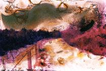 Lichtgrafik: Scan eines mit Brulée-Technik bearbeiteten Dias - Lightgraphics: Scan of a burned color slide von 3quarksmedia