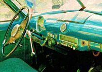 Cuba - Oldtimer von innen by Claudia Evans