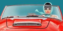 Die Cabriofahrerin unterwegs von Monika Juengling