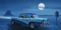 Blue night on Route 66 by Monika Juengling