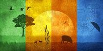 Alle Jahreszeiten in bunten Farben - All seasons colorfully  von Monika Juengling