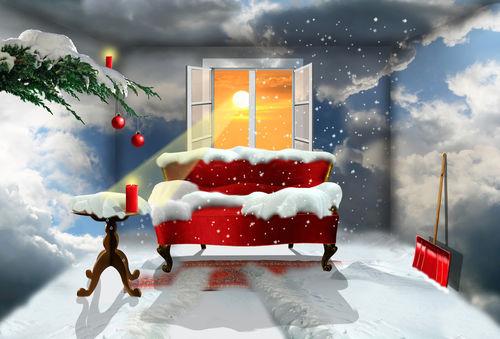 Schneewohnzimmer