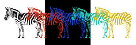 Zebra-pop-art-parade