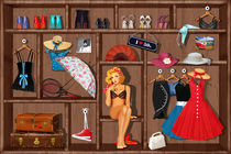 Pin-up girl im Setzkasten by Monika Juengling