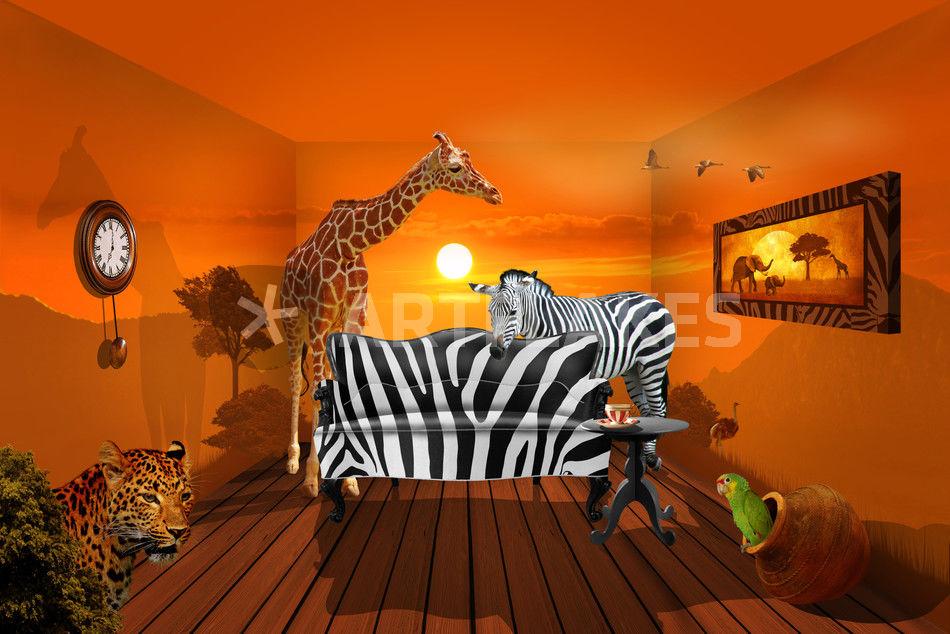 wildlife ambiente grafik illustration als poster und kunstdruck von monika juengling bestellen. Black Bedroom Furniture Sets. Home Design Ideas