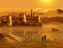 Das Märchenschloß am See von Monika Juengling