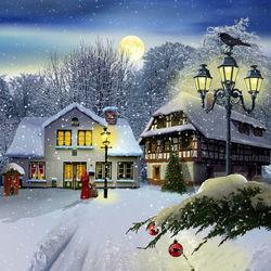 Schneedorf-weihnachten