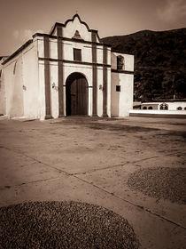 Chuao church and cacao yard by Juan Carlos Lopez