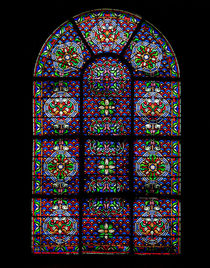 Notre Damme leadglass window by Juan Carlos Lopez