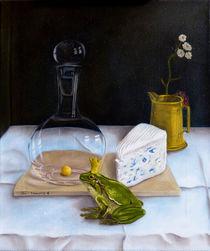 Stilleben mit Frosch von Dana Bennewitz