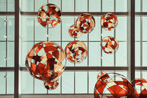 Colored Glass Balloons On Ceiling von Radu Bercan