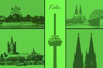 Köln Collage von Gabi Siebenhühner