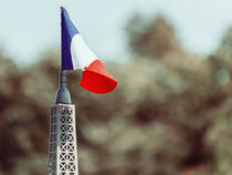 France Flag Close Up On Sunny Day by Radu Bercan