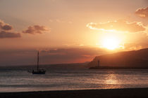 Sunset over the beach of Almeria von Jessy Libik