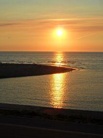 Sonnenuntergang Nordsee im Sommer von Antje Püpke