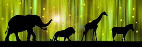 Schwarz-gruen-afrika-silhouetten